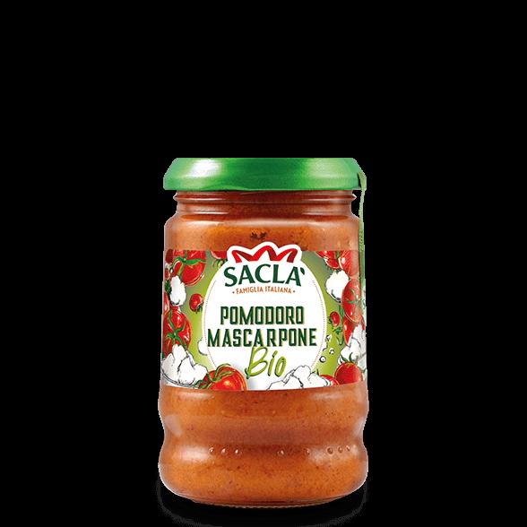 Biologische pastasaus met tomaten en Mascarpone kaas