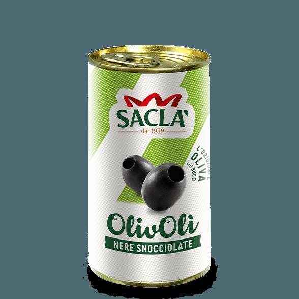 Ontpitte zwarte olijven in pekel (330g)